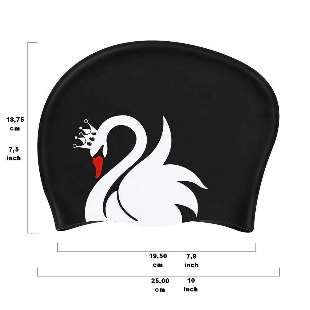 custom swim cap long hair